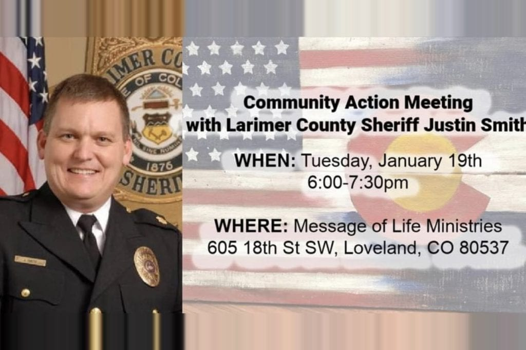 Zoom Presentation and Q&A with Larimer County Sheriff Justin Smith